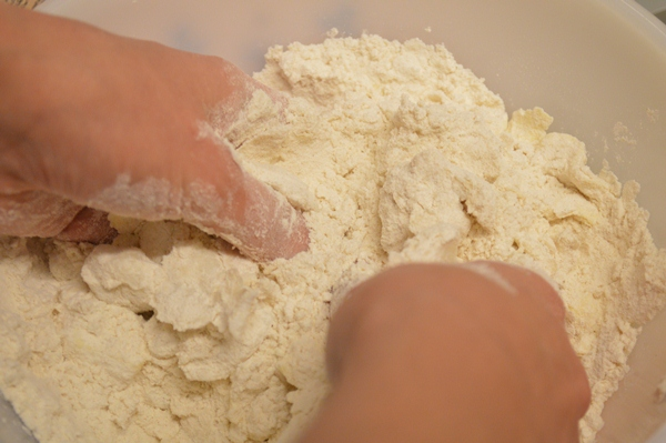 Rub the flour and fat together