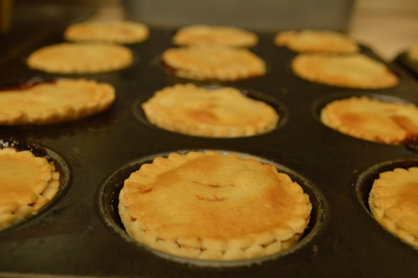 Bake the pies for 30 mins