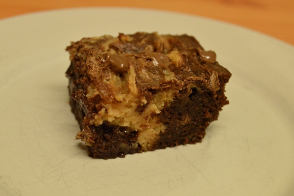 Peanut butter and banana brownie