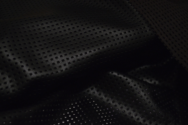 Punched Black Leatherette Fabric