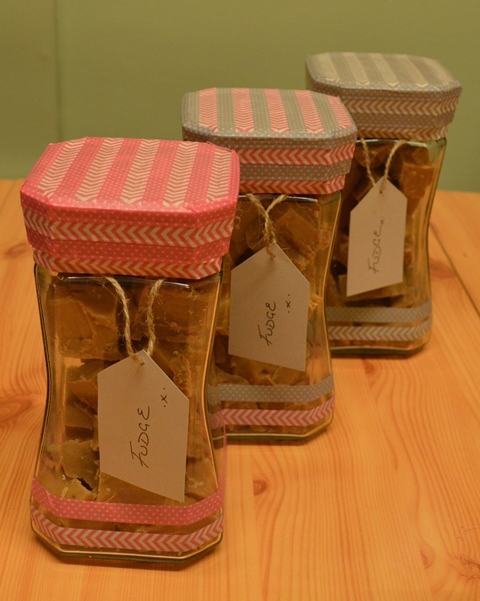 Decorative Jars of Fudge