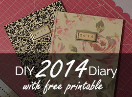 DIY Bookbinding 2014 Diary with Free Printable