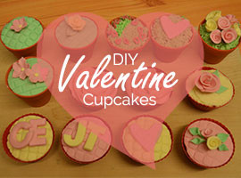 DIY Valentine Decorated Cupcakes