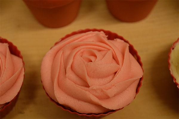 Valentines Cupcake IdeasPiped Roses