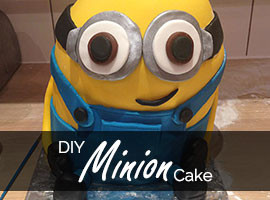 DIY Despicable Me Minion Birthday Cake