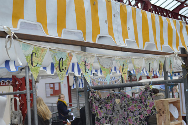 DIY Map Paper Bunting Stall