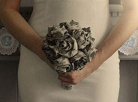 DIY Fabric Rose Bouquet