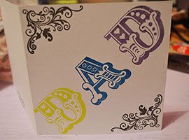 Do Crafts Carnival Alphabet Birthday Card