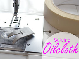 Sewing oilcloth on the machine