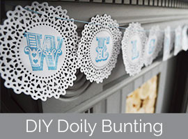 Things To Do With Doilies DIY Handstamped Doily Bunting