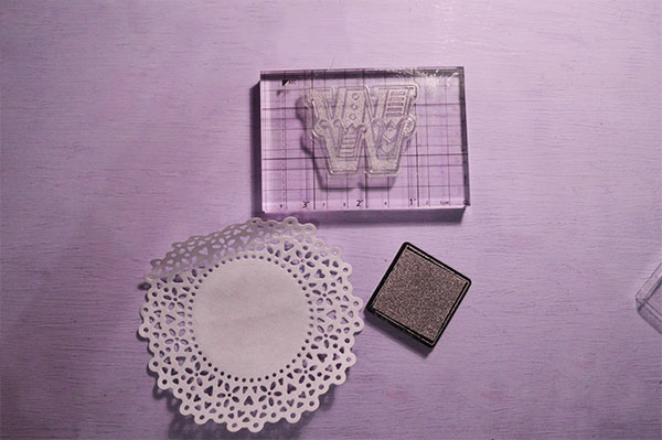 Things to do with doilies Docrafts carnival stamps