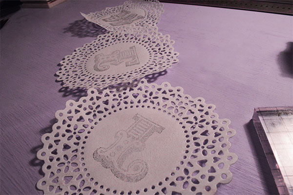 Things to do with doilies - welcome home bunting
