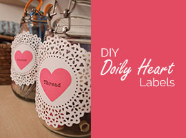 DIY Doily Heart Labels