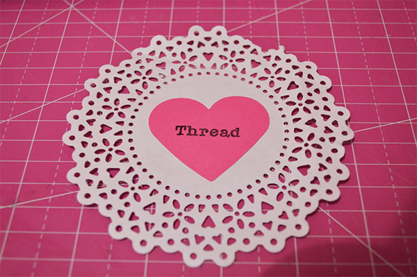 DIY Labels from Doilies