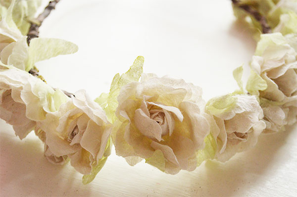 DIY-Flower-Crown-from-Faux-Cream-Roses
