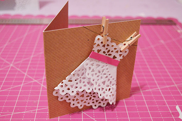 Origami Dress Card | Dress card, Origami cards, Origami birthday card | 399x600