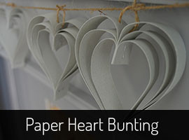 DIY Heart Bunting from Paper