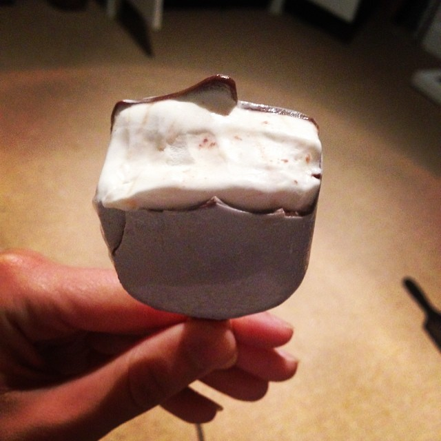 My magnum is silver and there's champagne inside it! #icecream #magnum #champagne