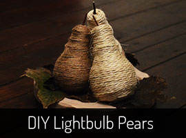 Upcycling ideas - Lightbulb DIY