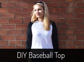 DIY Baseball Top Sewing Pattern