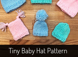 Tiny Baby Hat Knitting Pattern
