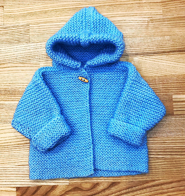 Hooded Baby Cardigan Knitting Pattern