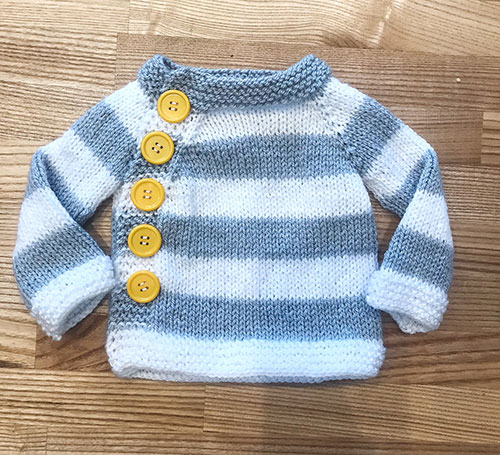 Striped Baby Jumper Knitting Pattern