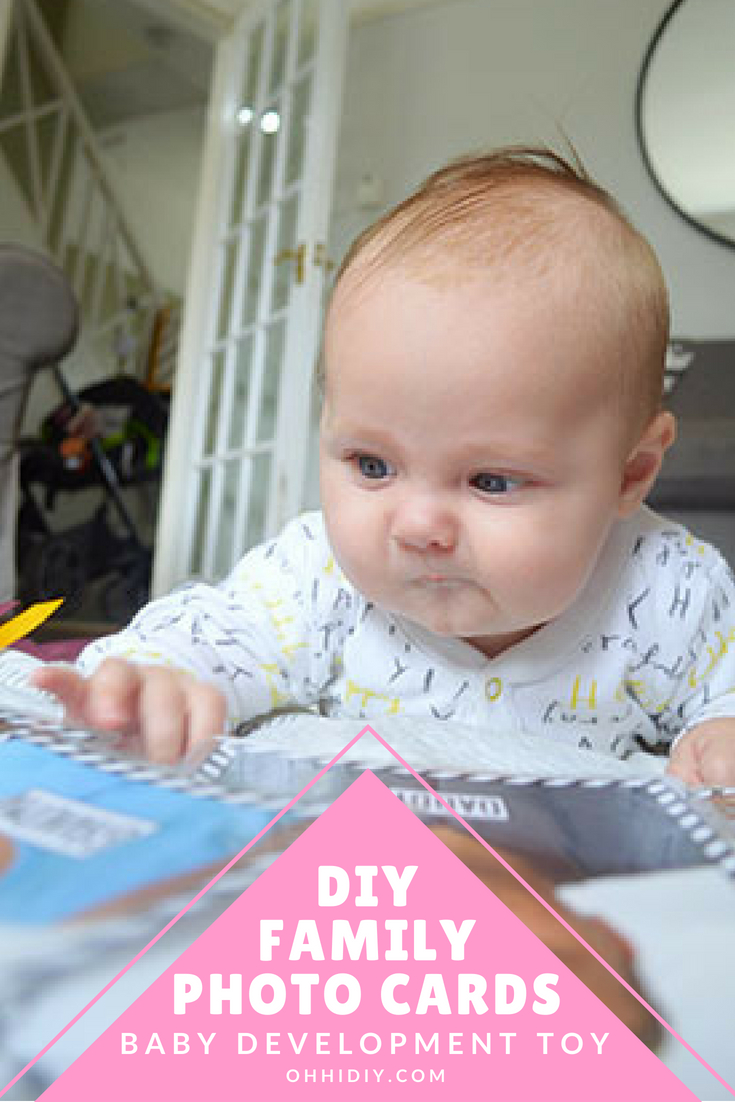 DIY Family Photo Cards - Baby Development and Learning Activity