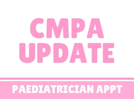 CMPA Food Intolerance Paediatrician Appointment