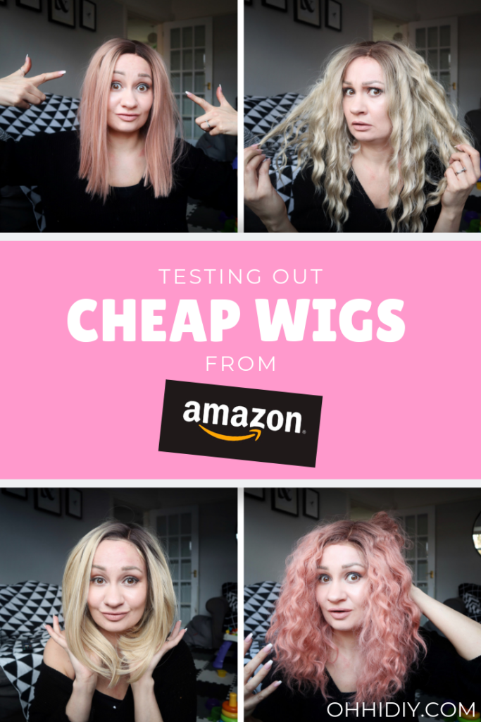 Trying on cheap lace front wigs from Amazon